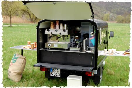 Café-linO - das Espressomobil, alles an Bord für leckeren Kaffee
